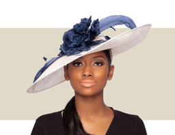 LADY DIANE - Navy Blue and Ivory