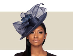 CAMPARI FASCINATOR HAT - Navy Blue