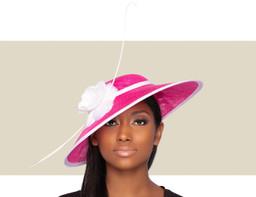 ARIANA FASCINATOR HAT - Hot Pink