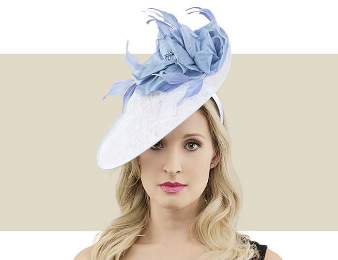 Cayla Sky   Wedgewood Light Blue Sinamay Fascinator Hat 08452f9693f