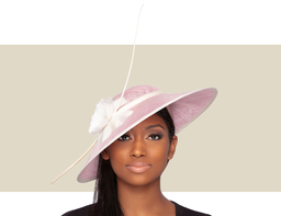 ARIANA FASCINATOR HAT - Rose and Ivory
