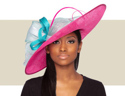LIA KENTUCKY DERBY HAT - Pink and Blue