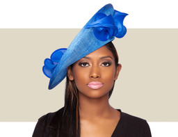 PAOLA FASCINATOR HAT - Electric Blue