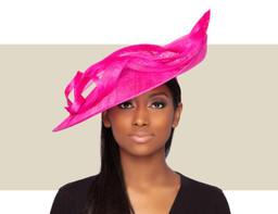 MIRAH FASCINATOR HAT - Lipstick Pink