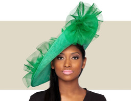 GIA FASCINATOR HAT - Fern Green