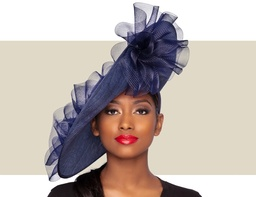 GIA FASCINATOR HAT - Navy Blue