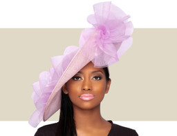GIA FASCINATOR HAT - Lilac Purple