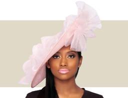 GIA FASCINATOR HAT - Light Pink