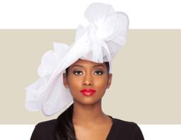 GIA FASCINATOR HAT - White