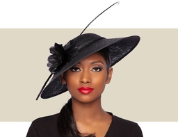 ARIANA FASCINATOR HAT - Black
