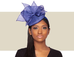 STARDUST Cocktail Fascinator Wedding Hat - Ink Blue