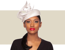 OKSANA BERET HAT - Light Silver