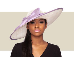 BOHUSLAVA HAT - Wisteria and Ivory