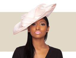 ZENOVIA FASCINATOR HAT - Blush Pink
