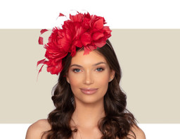 BEAUVAIS FASCINATOR - Red