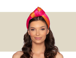 NEWPORT HEADBAND - Hot Pink and Orange