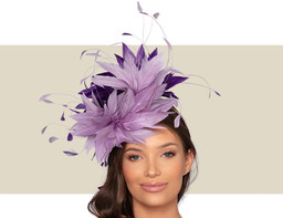 CHRISTIANE COCKTAIL HAT - Lilac and Purple