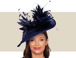 BELFORT FASCINATOR HAT - Royal and Navy Blue