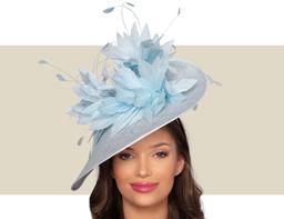 BELFORT FASCINATOR HAT - Powder Blue