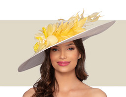 AVIGNON HAT - Ivory and Buttercup Yellow