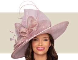 LISETTE WIDE-BRIM HAT - Rose Pink