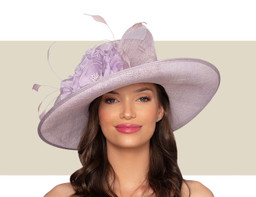 DELANEY WIDE-BRIM HAT - Lilac Purple