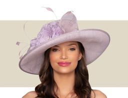 DELANEY WIDE-BRIM HAT - Lilac Purple