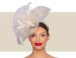 LUCIA WOMEN'S FASCINATOR - Off-White