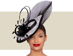 PAULETTE FASCINATOR - White and Black