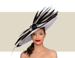MONROE COUTURE HAT - White and Black