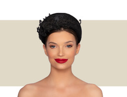 DACSHUND LACE FANCY HEADBAND - Black