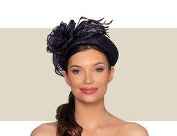 ZOLA WOMENS FANCY HEADBAND - Navy Blue