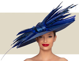 MONROE COUTURE HAT - Royal Blue