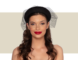TEMPESTE LACE HEADBAND - Black