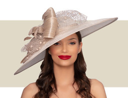 BRIMINGHAM HAT - Ivory and Champagne
