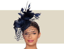 VERONIQUE WOMENS HEADPIECE - Navy Blue