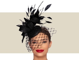 VERONIQUE WOMENS HEADPIECE - Black