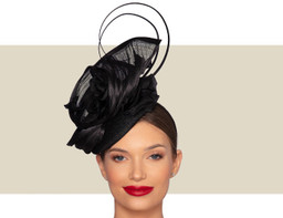 DARCEY COCKTAIL HAT - Black