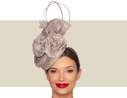 DARCEY COCKTAIL HAT - Taupe