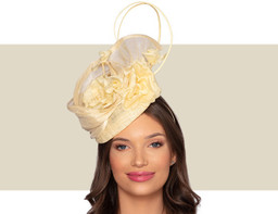 DARCEY COCKTAIL HAT - Buttercream Yellow