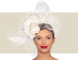 SINCLAIR WOMENS FANCY HEADPIECE - Ivory