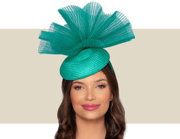 MARTINA COCKTAIL HAT - Jade Green