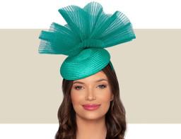 MARTINA COCKTAIL HAT - Jade Green