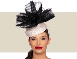 MARTINA COCKTAIL HAT - Ivory and Black
