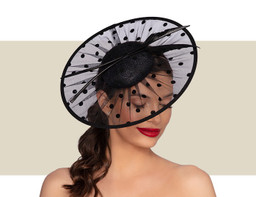CARLOTTA WOMENS HEADPIECE - Black