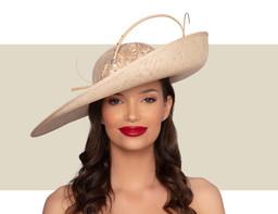 NOEMI WOMENS FANCY HAT - Soft Gold
