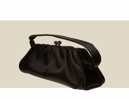 CLUTCH WITH HANDLE - Black