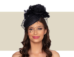 VALENTINA COCKTAIL HAT - Navy Blue
