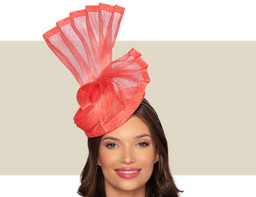 NADINE COCKTAIL HAT - Coral