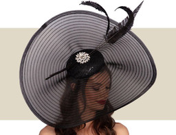AMELIE FASCINATOR HAT - Black